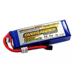 2200mAh 3S 11.1v 30C LiPo Battery - Overlander Supersport