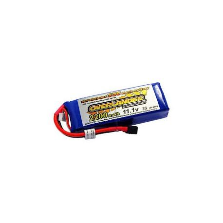 2200mAh 3S 11.1v 30C LiPo Battery - Overlander Supersport