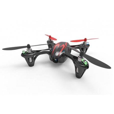 Hubsan X4 LED Mini Quad Copter RTF with Camera Recording & 2.4Ghz Radio System - Black/Red